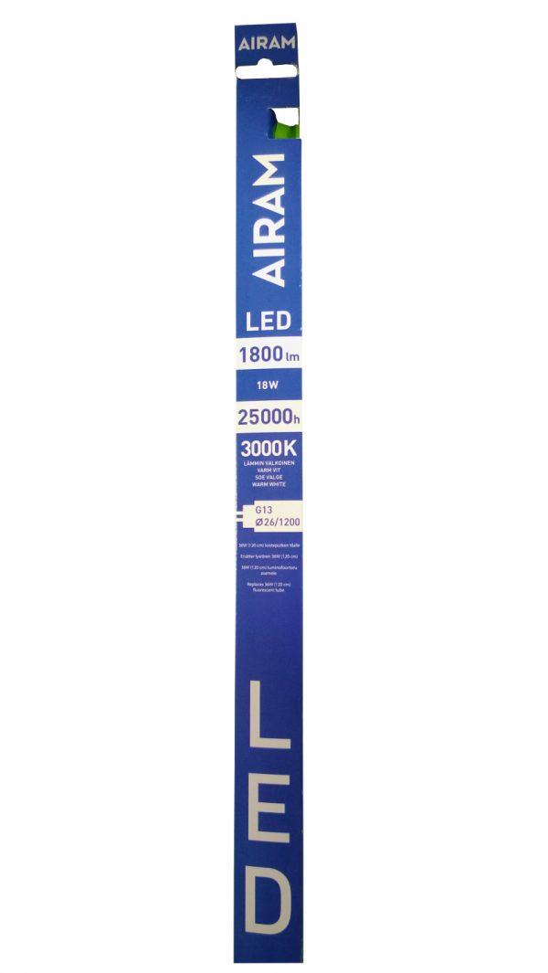 Airam T8 LED-loisteputki 18W/830 (120 cm)