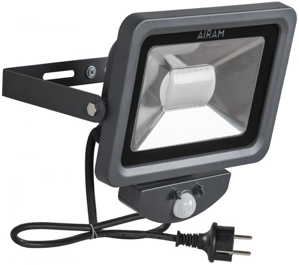 Airam Floody 30W/2100lm LED-valonheitin (4000K), liiketunnistimella