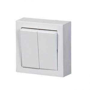 ABB Impressivo pinnallinen 5-kytkin, valkoinen