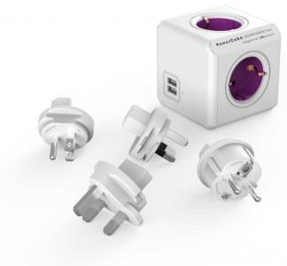 PowerCube matka-adapteri (4 pistoriasiaa + 2-USB)