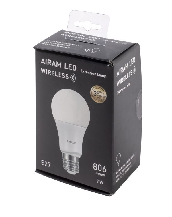 Airam Wireless E27 pallolamppu 9W